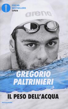 Il peso dell'acqua - Gregorio Paltrinieri - copertina