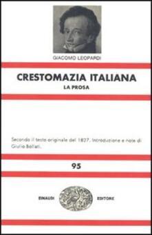 Nordestcaffeisola.it Crestomazia italiana. La prosa-La poesia Image