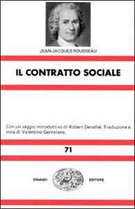 Il contratto sociale - Jean-Jacques Rousseau - copertina