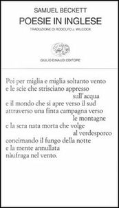 Libro Poesie in inglese Samuel Beckett