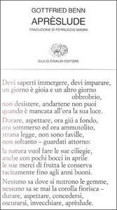 Foto Cover di Aprèslude, Libro di Gottfried Benn, edito da Einaudi