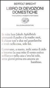 Libro di devozioni domestiche - Bertolt Brecht - copertina