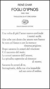 Libro Fogli d'Ipnos René Char