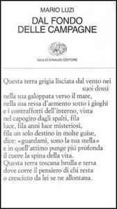 Libro Dal fondo delle campagne Mario Luzi