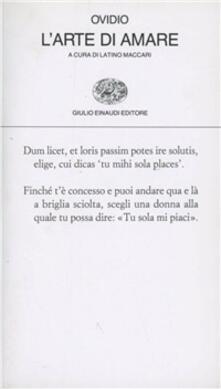 L' arte di amare - P. Nasone Ovidio - copertina