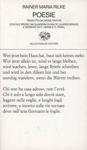 Libro Poesie Rainer M. Rilke