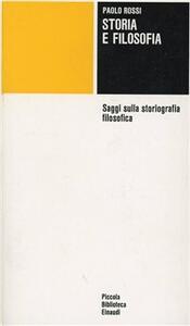 Storia e filosofia - Paolo Rossi - copertina