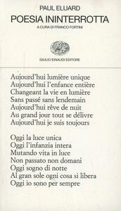 Poesia ininterrotta - Paul Éluard - copertina