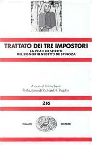 Trattato dei tre impostori. La vita e lo spirito del signor Benedetto De Spinosa - copertina