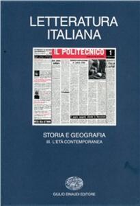 Letteratura italiana. Storia e geografia. Vol. 3: L'Età contemporanea. - copertina