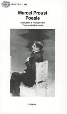 Poesie - Marcel Proust - copertina