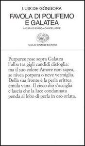 Libro Favola di Polifemo e Galatea Luís de Góngora
