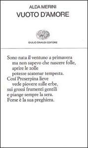 Vuoto d'amore - Alda Merini - copertina