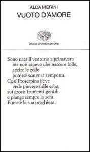 Libro Vuoto d'amore Alda Merini