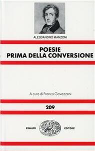 Rime prima della conversione - Alessandro Manzoni - copertina