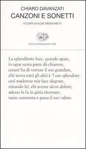 Canzoni e sonetti - Chiaro Davanzati - copertina