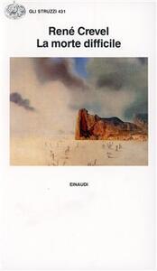 La morte difficile - René Crevel - copertina