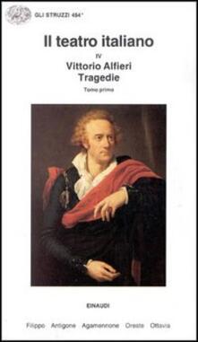 Tegliowinterrun.it Il teatro italiano. Vol. 4\1: Tragedie. Image