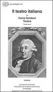 Il teatro. Vol. 3 - Carlo Goldoni - copertina