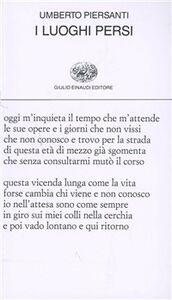 Libro I luoghi persi Umberto Piersanti