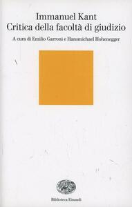 Critica della facoltà di giudizio - Immanuel Kant - copertina
