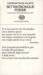 Libro Settantacinque poesie Konstantinos Kavafis