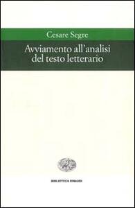 Avviamento all'analisi del testo letterario - Cesare Segre - copertina