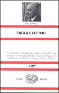 Saggi e lettere - Robert Musil - copertina