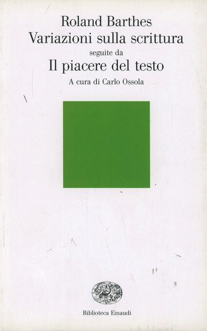 Variazioni sulla scrittura-Il piacere del testo - Roland Barthes - copertina