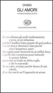 Libro Gli amori P. Nasone Ovidio