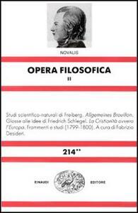 Opera filosofica. Vol. 2 - Novalis - copertina