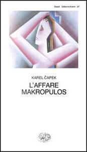 L' affare Makropulos - Karel Capek - copertina