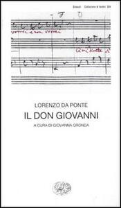 Il don Giovanni - Lorenzo Da Ponte - copertina