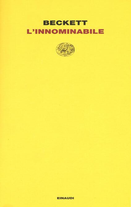 L' innominabile - Samuel Beckett - copertina