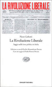 La rivoluzione liberale - Piero Gobetti - copertina