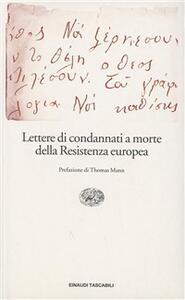 Lettere di condannati a morte della Resistenza europea - copertina