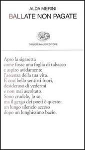 Ballate non pagate - Alda Merini - copertina