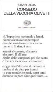 Congedo della vecchia Olivetti - Gianni D'Elia - copertina