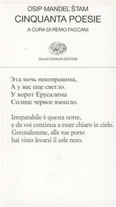 Cinquanta poesie - Osip Mandel'stam - copertina
