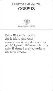 Libro Corpus Salvatore Mannuzzu
