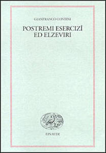Postremi. Esercizi ed elzeviri - Gianfranco Contini - copertina