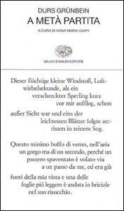 Libro A metà partita Durs Grünbein