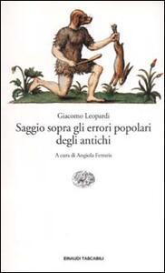 Saggio sopra gli errori popolari degli antichi - Giacomo Leopardi - copertina