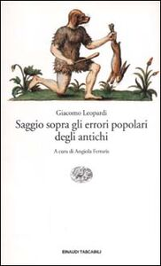 Libro Saggio sopra gli errori popolari degli antichi Giacomo Leopardi