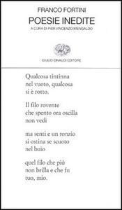 Poesie inedite - Franco Fortini - copertina