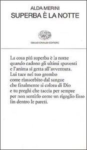 Foto Cover di Superba è la notte, Libro di Alda Merini, edito da Einaudi