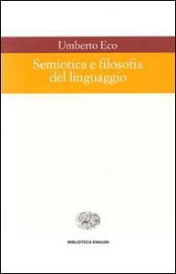 Semiotica e filosofia del linguaggio - Umberto Eco - copertina