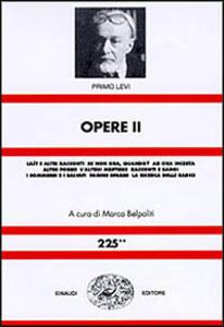 Opere - Primo Levi - copertina