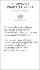 Diario d'Algeria - Vittorio Sereni - copertina