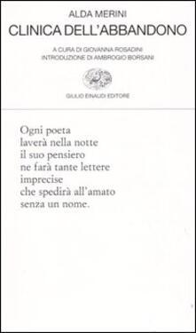 Clinica dell'abbandono - Alda Merini - copertina